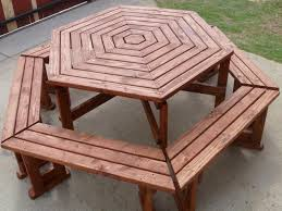 Free Hexagon Picnic Table Plans by Round Picnic Table Cushions Getting Sturdy Round Picnic Table