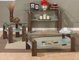 Oak Sofa Table by Jofran Compass Oak Sofa Table With Tempered Glass Top Goedekers Com