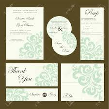 wedding invitations and rsvp set of wedding invitation cards invitation thank you card