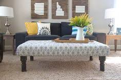 How To Make An Ottoman From A Coffee Table Diy Tufted Coffee Table Bench Tufted Ottoman Coffee Table
