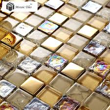 mosaic tile bathroom ideas glass mosaic tile iridescent golden glass tile bathroom