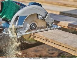 Bench Mounted Circular Saw Carpenter Cutting Wood Circular Bench Stock Photos U0026 Carpenter
