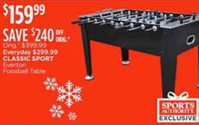 classic sport foosball table black friday deal classic sport everton foosball table