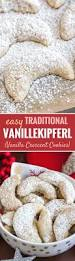 vanillekipferl german vanilla crescent cookies plated cravings