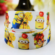 grosgrain ribbons 7 8 22mm ruban minions character printed grosgrain