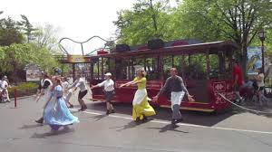 Six Flags Great America Jobs Meant To Be Trolley Show Orleans Place Six Flags Great America 5