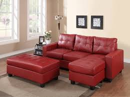 Sofa Set Leather by 2511 Sectional Sofa Set In Red Bonded Leather Match Pu