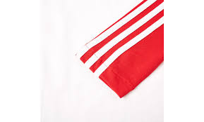 Red White Striped Flag Adidas Long Sleeve 3 Stripe Pique Tee Red White Above The Sole