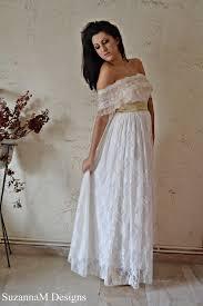 bohemian wedding dress ivory u0026 cream lace by suzannamdesigns