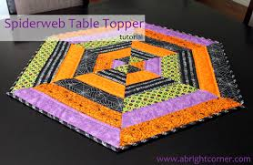 fabric mill spiderweb table topper tutorial