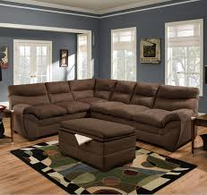 Upholstery Sectional Sofa Simmons Upholstery 9515 Casual Sectional Sofa Dunk Bright
