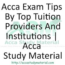 acca exam tips acca study material