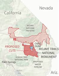 Joshua Tree California Map Tracking Proposed National Monument Reductions In The West The