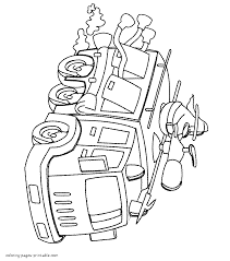 fire truck toy coloring page