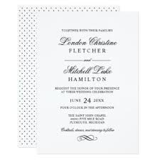 wedding invitations hamilton classic wedding invitations announcements zazzle