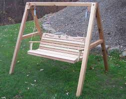 red cedar american sweetheart porch swing