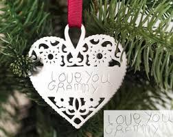 handwriting ornament etsy