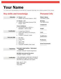 Samples Of Resume Formats by Biodata What It Is 7 Biodata Resume Templates