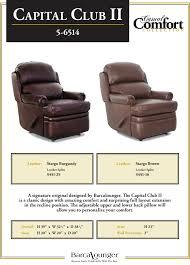barcalounger capital club ii wall hugger recliner chair leather