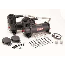 44442 dual air suspension compressor kit 444c black