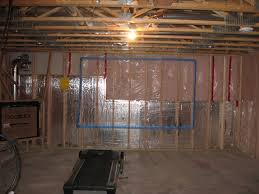 simple vapour barrier installation basement home design very nice
