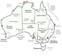 Australian States Map by High Detail Vector Map Of Australia With States And Major Cities