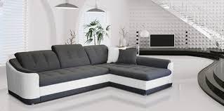 canapé d angle blanc et gris canapé d angle convertible à droite bray blanc gris l 278