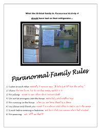 Family House Rules by Paranormal Activity 4 Gives Supernatural House Rules