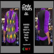 mardi gras vest second marketplace only yours for him mens mesh mardi