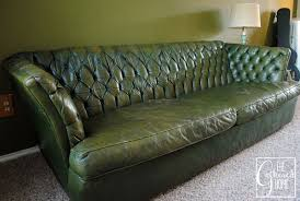 Vintage Tufted Sofa by Found Vintage Tufted Image Gallery Green Leather Sofa Home Decor