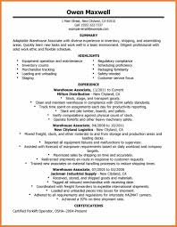 Govt Jobs Resume Upload by Resume For Warehouse Job Free Resume Example And Writing Download