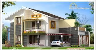 Row Houses Elevation - beautiful villa elevation 1850 sq ft kerala house design idea