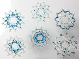 beaded snowflake christmas decorations ornaments made from glass