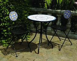 Tile Bistro Table Furniture Mosaic Bistro Table For Your Outdoor Furniture Somvoz