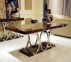 High Quality Dining Room Furniture by Marble Top Rectangular Modern Dining Table And Chairs Luxury High