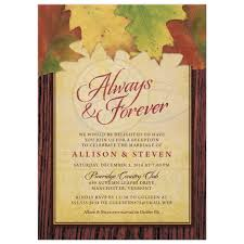 post wedding reception invitations post wedding reception only invitations rustic autumn leaves