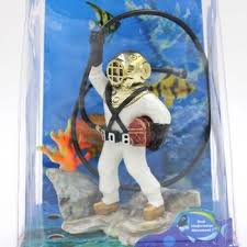 wholesale fish tank diver with hose air resin ornament