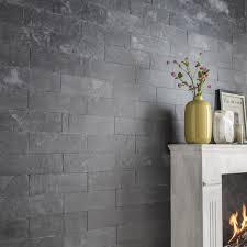 parement bois mural plaquette de parement pierre naturelle noir plume leroy merlin