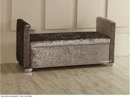 Ottoman Storage Elissa Ottoman Storage Box Seat Available In Crush Velvet