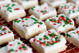 12 days of christmas sugar cookie squares with sprinkles on top