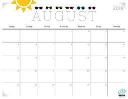 printable calendar 2018 august august 2018 calendar cute weekly printable calendar