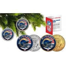 louis rams colorized jfk half dollar us 2 coin set nfl