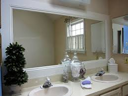 Framing A Bathroom Mirror Framed Bathroom Mirrors How To Frame A Bathroom Mirror Remodelling