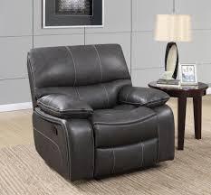 u0040 grey black leather glider reclining chair by global furniture