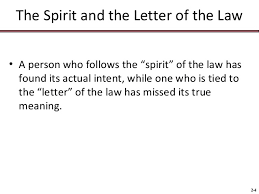 what is the letter of the law format