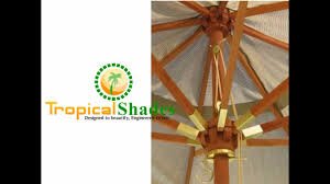 Wood Patio Umbrellas Customized Patio Umbrellas By Tropical Shades