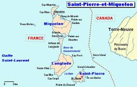 map of st and miquelon st and miquelon sts