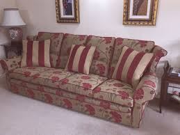 Red Floral Sofa by Brown Sofa To Red Floral With Striped Cushions Eeze Covers