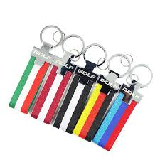 red key rings images New golf keychain car key ring holder keyrings leather keychain jpg