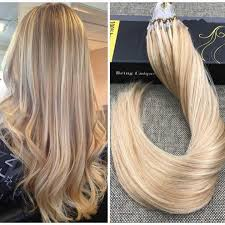 micro ring extensions micro loop ring caramel with human hair extension 27